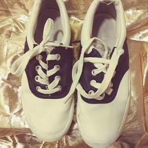 Keds Blue And White Saddle Oxford Sneakers